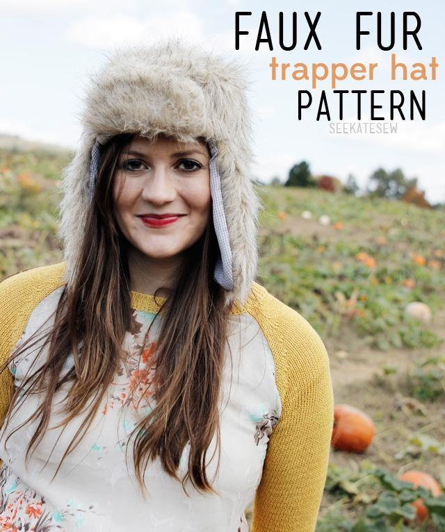 Free Sewing Pattern Faux Fur Trapper Hat I Sew Free