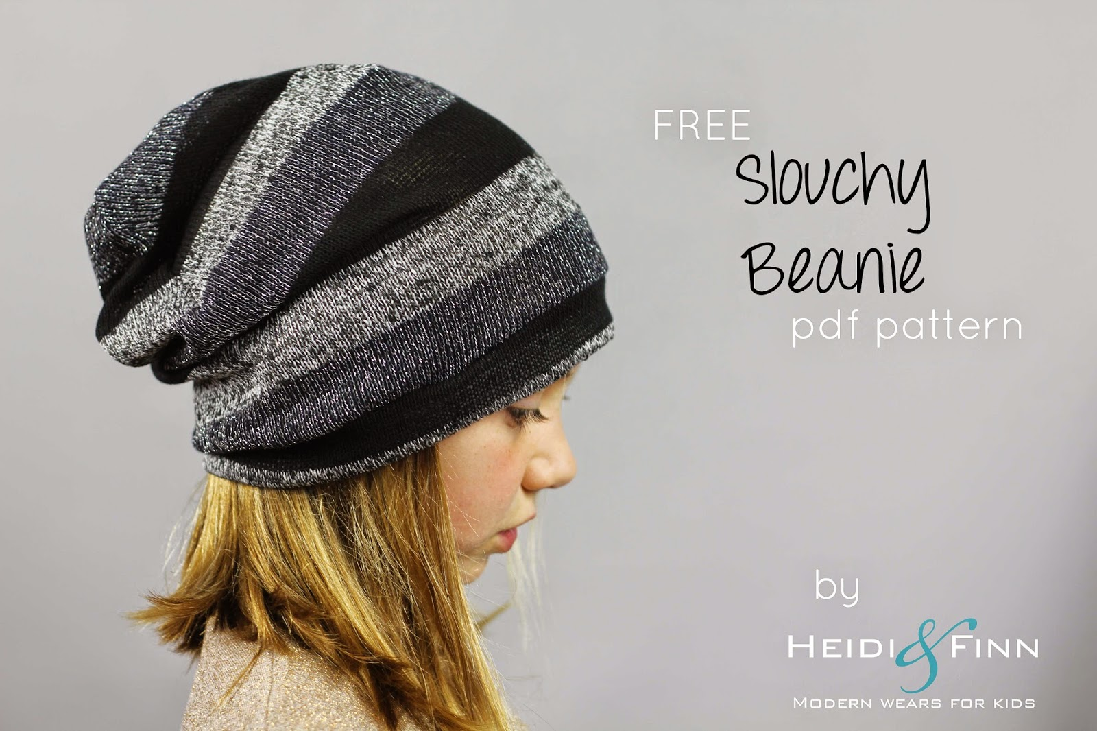 Free Knitted Beanie Patterns For Kids : Free Sewing Pattern: Slouchy Beanie