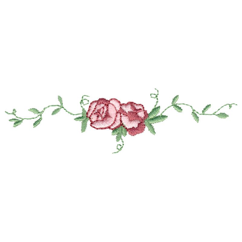 Free Embroidery Design Rose Border