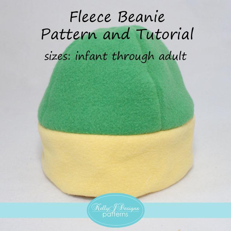Free Sewing Pattern Fleece Beanie I Sew Free