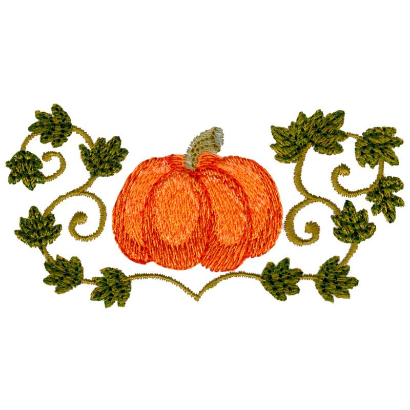 Free embroidery design pumpkin vine