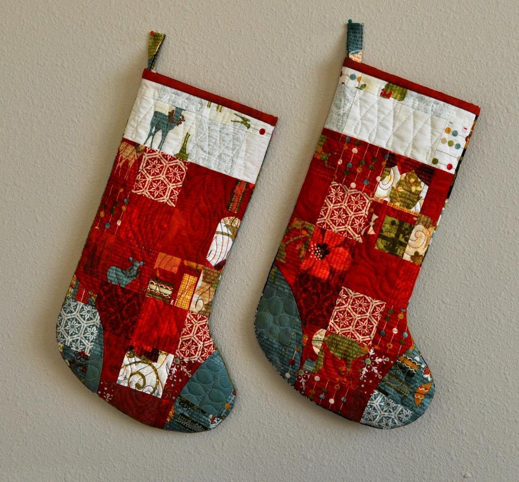 Free Quilt Pattern Scrappy Stocking Pattern I Sew Free