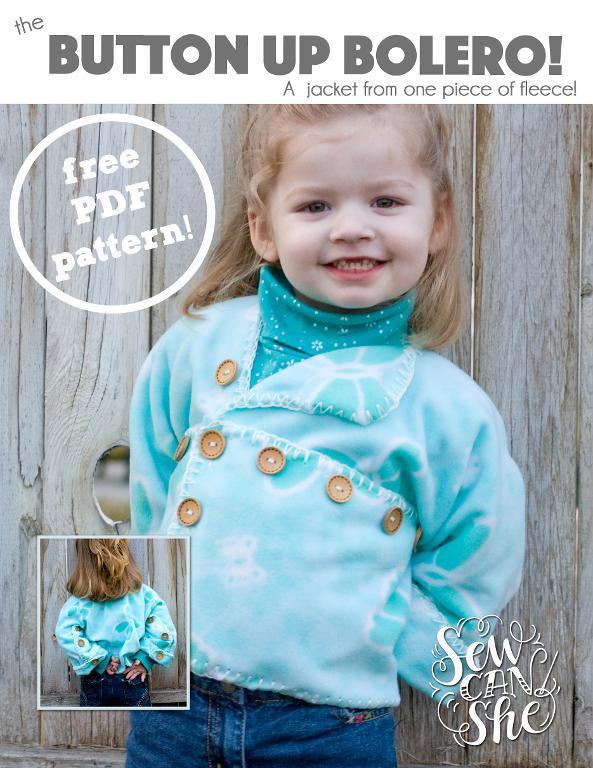 Free Sewing Pattern: Button Up Bolero Fleece Jacket | I Sew Free