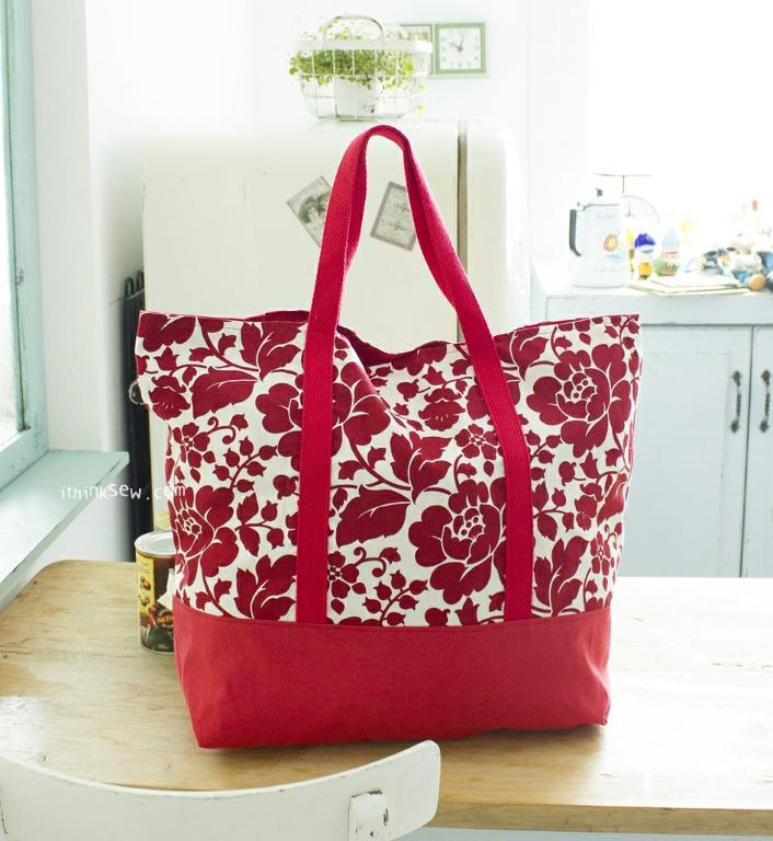 Free Sewing Pattern Martha Market Bag I Sew Free