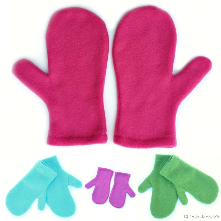Free Sewing Pattern Fleece Mittens I Sew Free