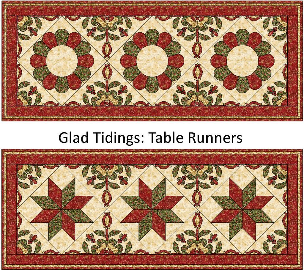 Free Quilt Patterns Table Runners Download : Free Quilt Pattern: Glad Tidings Christmas Table Runner