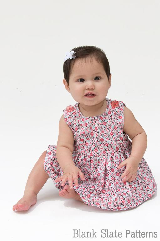 Free Sewing Pattern Button Shoulder Baby Dress I Sew Free