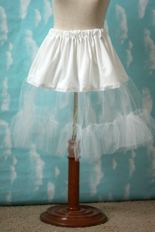 Free sewing tutorial tulle petticoat pattern