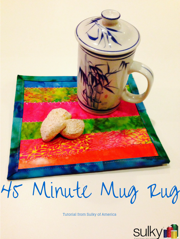 Free Sewing Tutorial 45 Minute Mug Rug I Sew Free