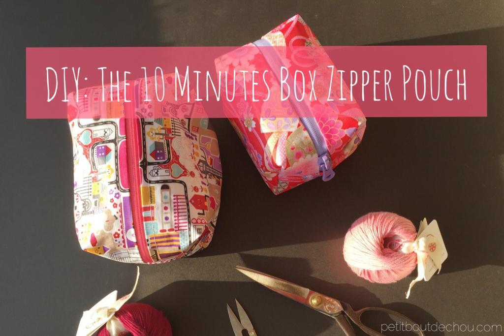 Free Sewing Pattern The 10 Minute Box Zipper Pouch I