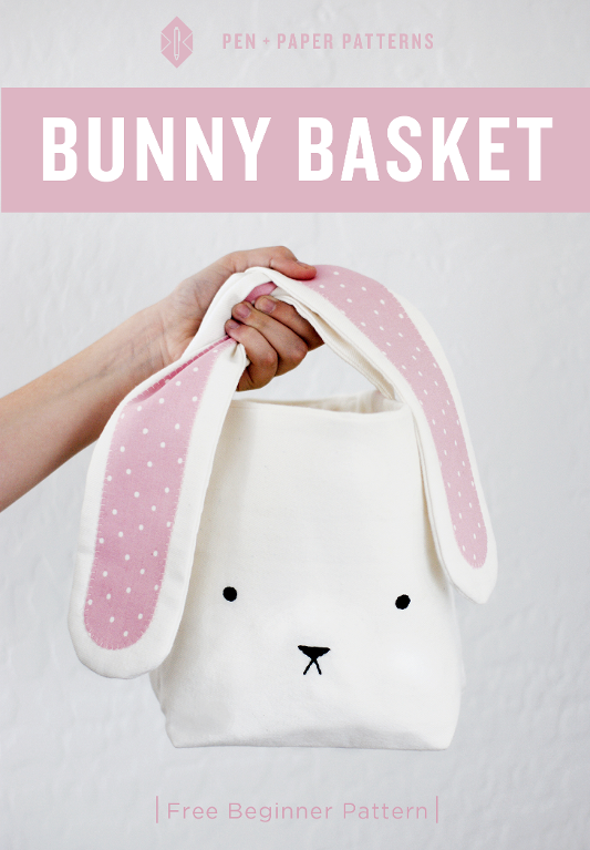 Free Sewing Pattern: Bunny Easter Basket | I Sew Free