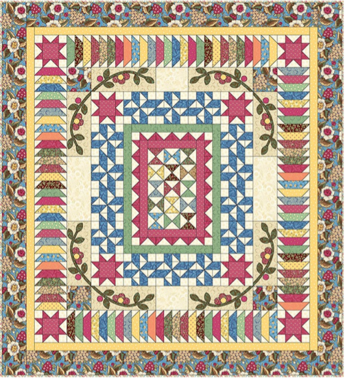 Free Quilt Pattern: 2016 Block of the Month Coloring Page