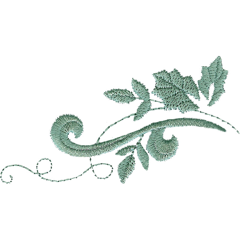 Free embroidery design fancy leaves