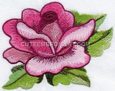 Free Embroidery Design Rose I Sew Free