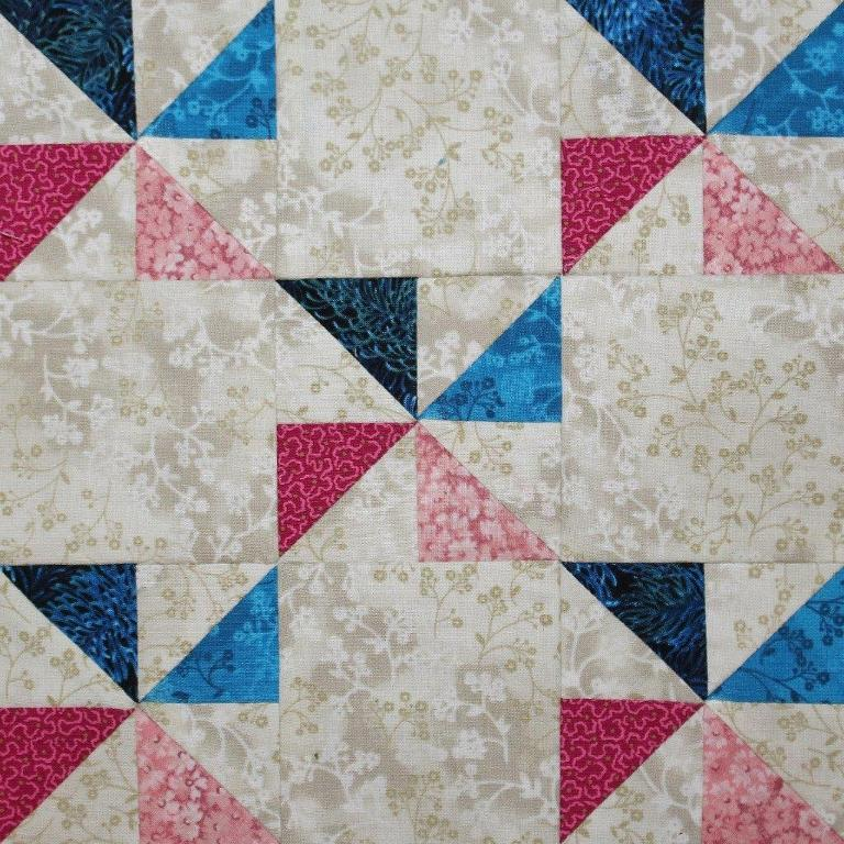 Free Quilt Pattern Nine Patch Pinwheels Buoyant Blossoms