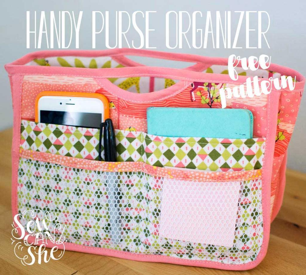 free sewing pattern handy purse organizer