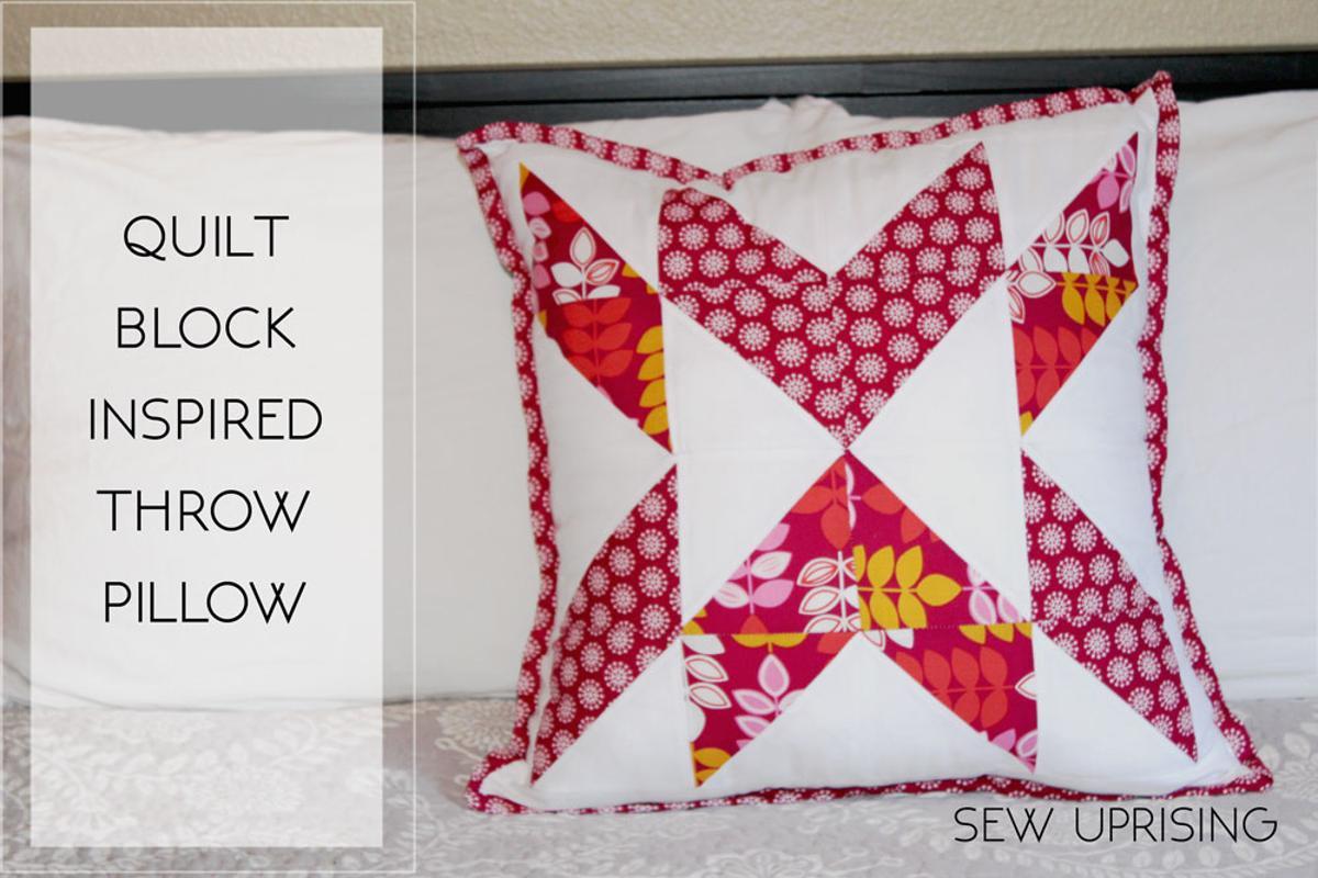 Free Sewing Pattern: Quilt Block Throw Pillow