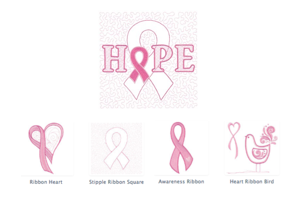 breast cancer awareness machine embroidery designs