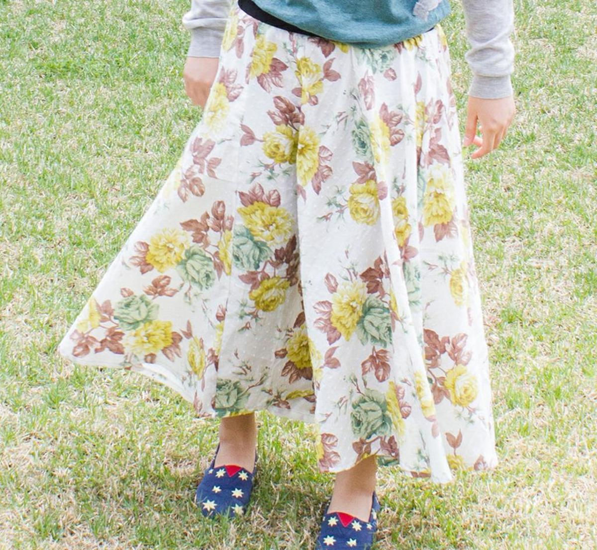 free sewing pattern ariel maxi circle skirt