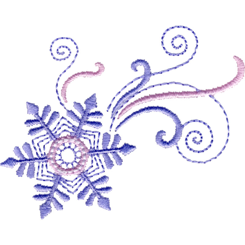 Free embroidery design dancing snowflake