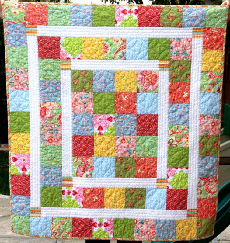 Baby Quilt Designs Free : Free Quilt Pattern: Kelsey Baby Quilt