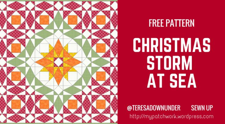 Free Quilt Pattern: Christmas Storm at Sea