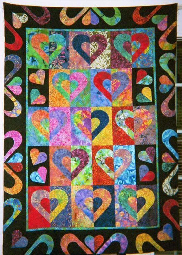 Free Quilt Patterns With Hearts : Free Quilt Pattern: Hearts on Fire