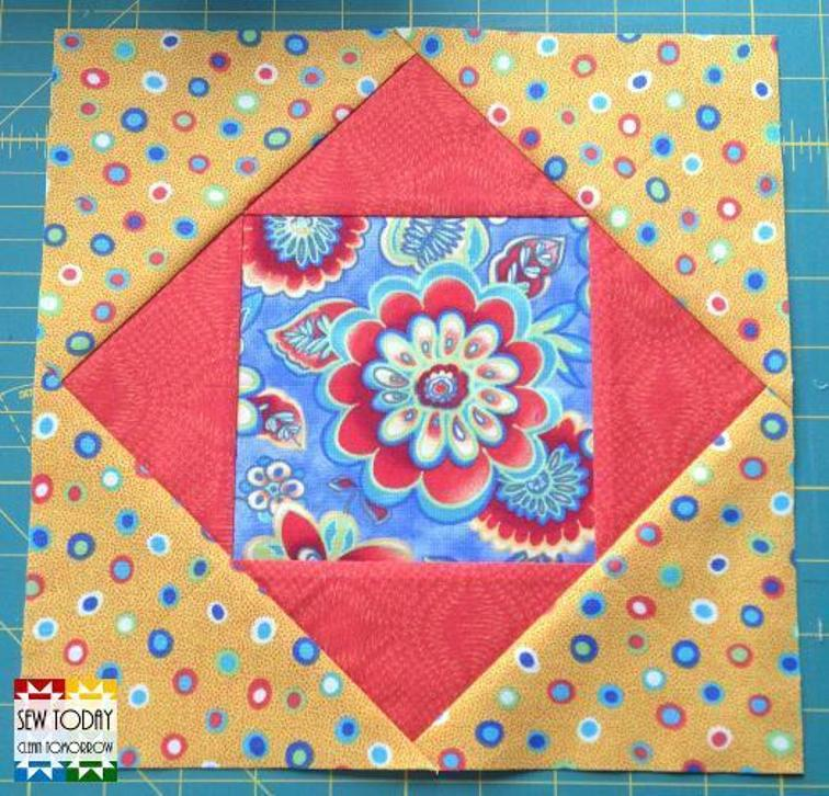 Free Quilt Patterns Square Blocks : Free Quilt Pattern: Square in a Square Quilt Block
