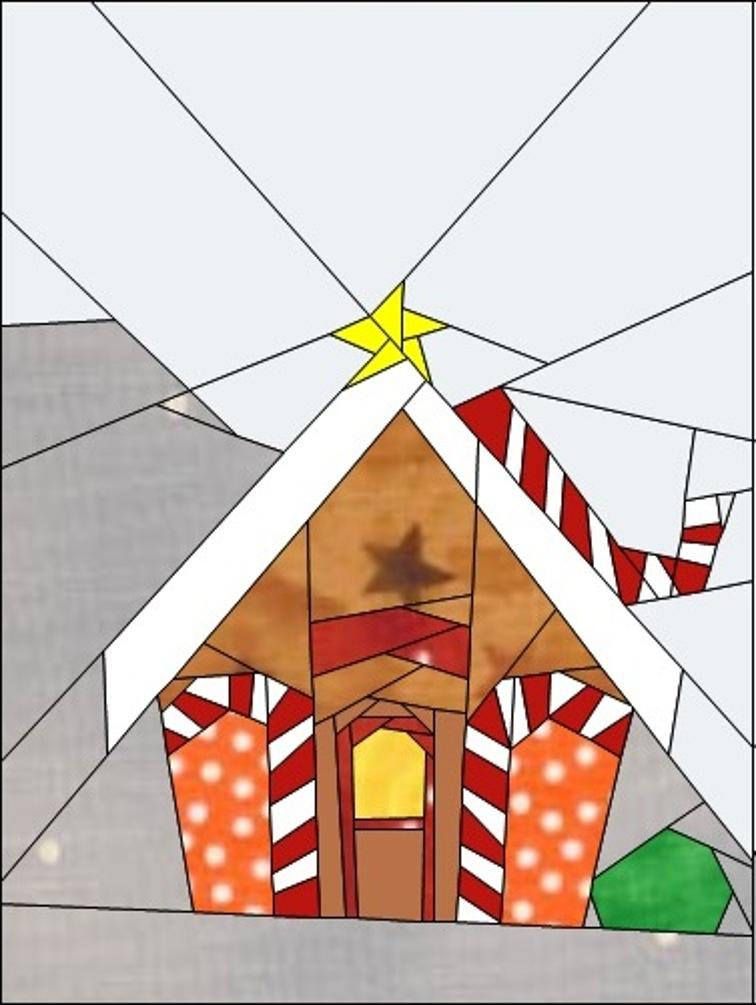 Gingerbread House Quilt Pattern Free : Free Quilt Pattern: Gingerbread Village Block #9