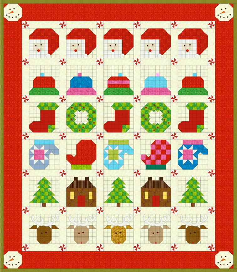 Free Quilt Pattern: December Tis The Season Finishing Instructions
