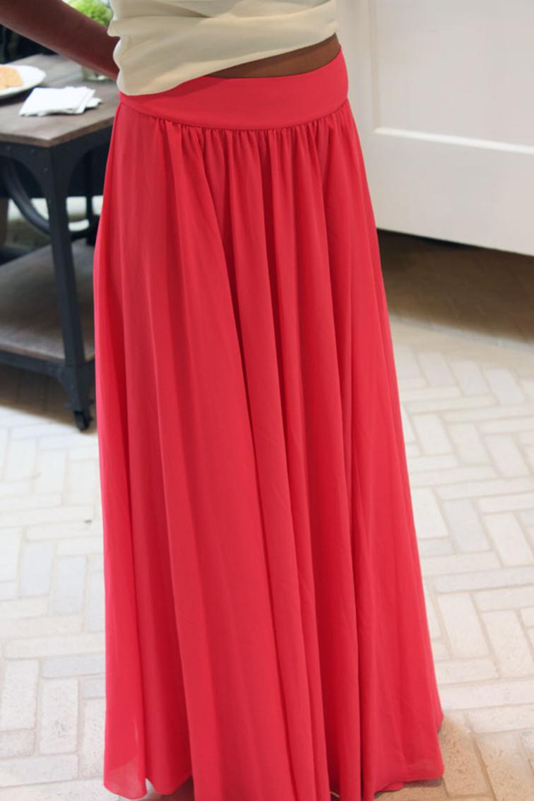 free sewing pattern silk chiffon maxi skirt