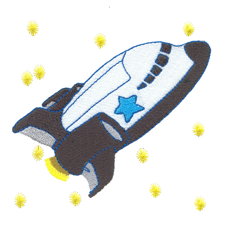 Free embroidery design space shuttle for Space embroidery patterns