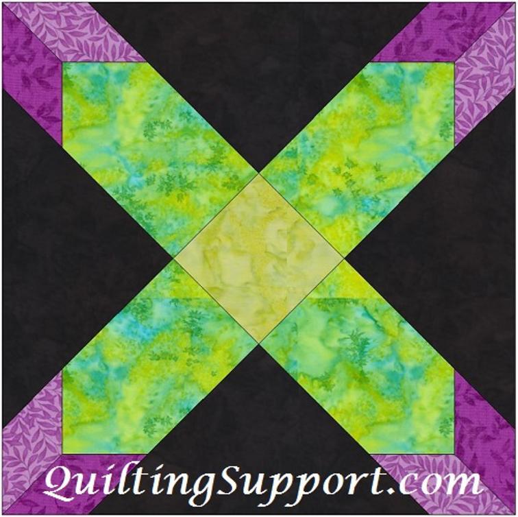 Free Quilt Pattern: Hunter Star 10 Inch Template Block
