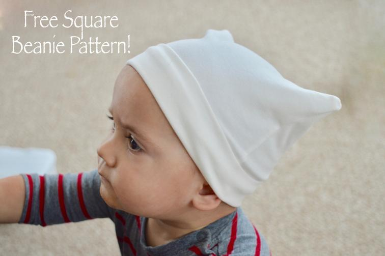 Free sewing pattern square beanie hat pattern