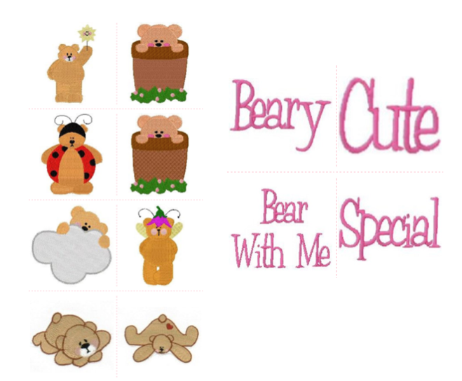Free Embroidery Designs Beary Special I Sew Free