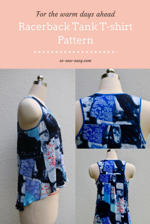 Free Sewing Pattern Racerback Tank T Shirt I Sew Free