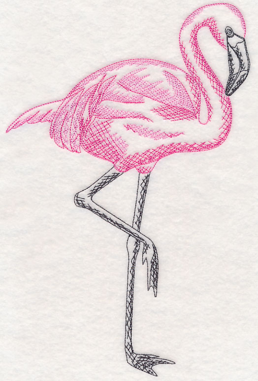 Free Embroidery Design Tropical Flamingo I Sew Free