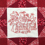 Free Quilt Pattern:  Words to Live By – Thankful