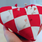 Free Quilt Pattern:  Heart Shaped Pincushion