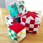 Free Quilt Pattern:  Easy Cube Pincushion