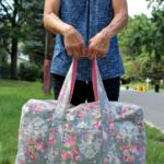Free Sewing Pattern:  Vera Bradley Inspired Carryon Duffel Bag