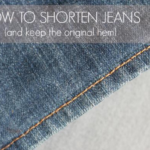 Free Sewing Tutorial:  How To Hem Jeans