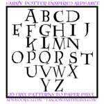 Free Quilt Pattern:  Harry Potter Inspired Paper Pieced Alphabet v.2