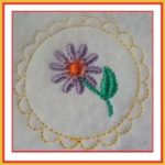 Free Embroidery Design:  Scalloped Circle
