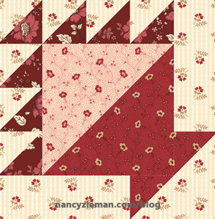 Free Quilt Pattern: Fat Quarter Mystery Quilt May Block
