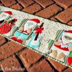 Free Quilt Pattern:  Will the Real Santa Please Stand Up? Quilt Row