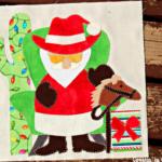 Free Quilt Pattern:  Cowboy Santa