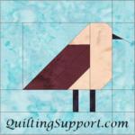 Free Quilt Pattern:  Bird 6 Inch Block Template