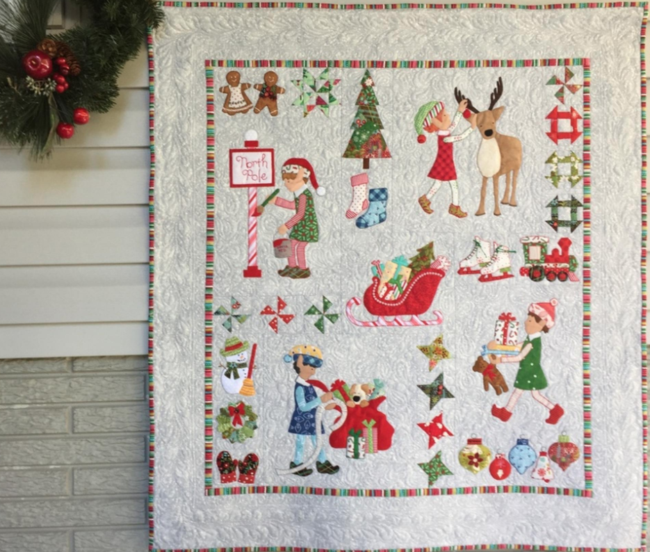 Free Quilt Pattern: Christmas Elves Assembly and Border Instructions