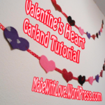 Free Sewing Pattern:  Heart Garland